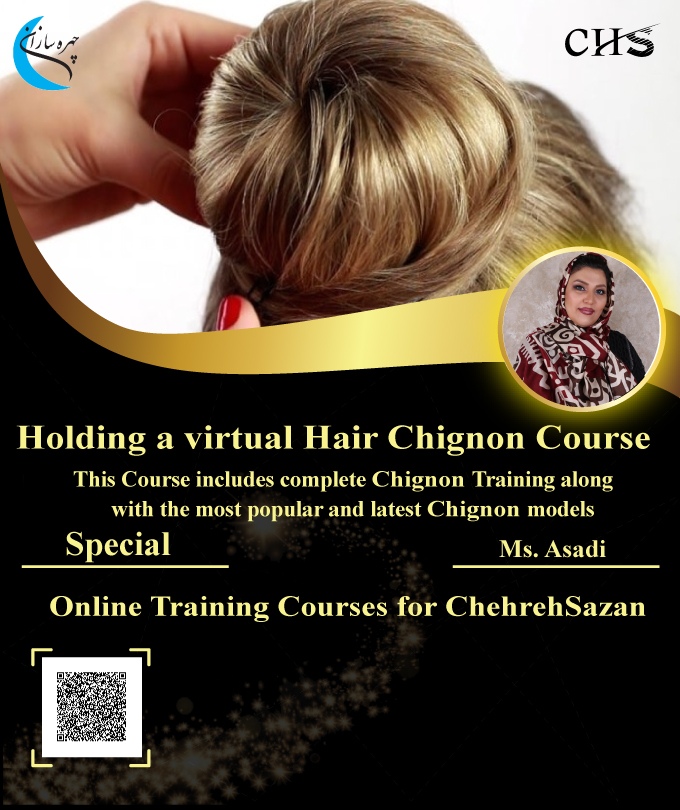 Hair Chignon training course, Hair Chignon course , Hair Chignon training , Hair Chignon training course Certificate