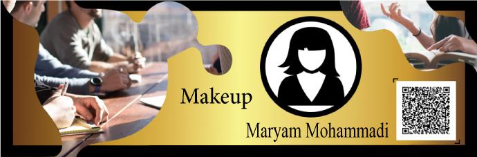 Maryam Mohammadi, Makeup training certificate, Makeup, Makeup certificate, Makeup training, Makeup training Maryam Mohammadi, Makeup certificate Maryam Mohammadi