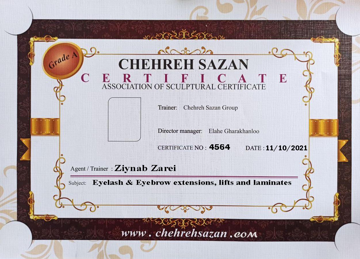 Ziynab Zarei, Eyelash & Eyebrow extensions, lifts and laminates training certificate, Eyelash & Eyebrow extensions, lifts and laminates, Eyelash & Eyebrow extensions, Eyelash & Eyebrow extensions, lifts and laminates certificate, Eyelash & Eyebrow extensions, lifts and laminates training, Eyelash & Eyebrow extensions, lifts and laminates training Ziynab Zarei, Eyelash & Eyebrow extensions, lifts and laminates certificate Ziynab Zarei